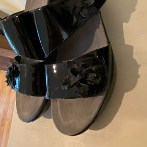 "Velcro Black Patton Leather ""Dansko Clogs."